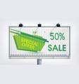 big billboard sale banner vector image
