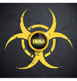 biohazard symbol with a button on the wall vector image vector image