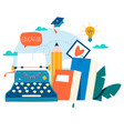 blogging education creative writing vector image