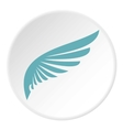 Blue wing icon flat style vector image vector image