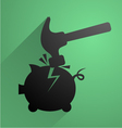 break piggy bank symbol vector image vector image
