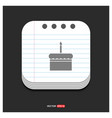 cake icon gray icon on notepad style template eps vector image