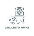 call center office line icon call center vector image vector image