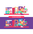 cloud hosting design vector image