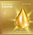 Collagen Serum and Vitamin Background Concept Skin vector image vector image