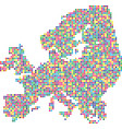 colorful abstract europe map vector image vector image