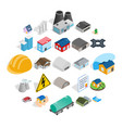 construct icons set isometric style vector image vector image