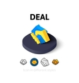 Deal icon in different style vector image