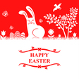 easter bunny greeting vector image vector image
