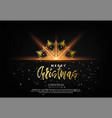 elegant christmas background with bhining gold vector image vector image