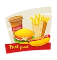 Fast food concept design vector image