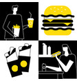 fast food - flat design style vector image