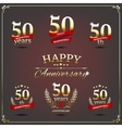 Fifty years anniversary signs collection vector image vector image