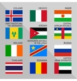 Flags of world flat Set number 08 vector image