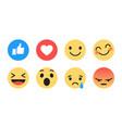 flat design modern emoji vector image vector image