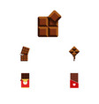 flat icon chocolate set of cocoa wrapper vector image vector image
