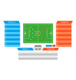 football match statistics information dashboards vector image