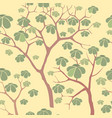 forest seamless background garden tree pattern vector image vector image