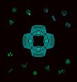 geometric oriental arabic pattern logo element vector image