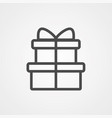 gift icon sign symbol vector image