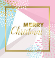 Gold Merry christmas design for greeting card vector image vector image