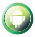 green round android system icon on a white vector image vector image