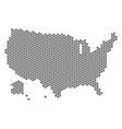 grey hexagon usa with alaska map vector image