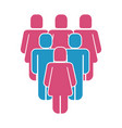 group of people silhouette figure vector image vector image