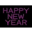 Happy New Year made from pink hearts vector image vector image