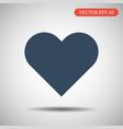 heart icon eps 10 vector image vector image