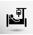 hospital stretcher bed iv icon recovery injecting