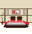 interior bedroom vector image