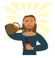 jesus christ water wine religious symbol vector image vector image