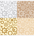 light brown and gray seamless gear patterns vector image