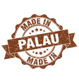 made in palau round seal vector image vector image