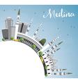 Medina Skyline with Gray Buildings Blue Sky vector image vector image