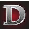 Metal letters d vector image