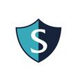 modern shield letter s vector image