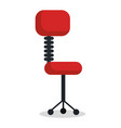 office chair isolated icon vector image