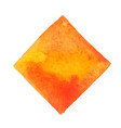 orange and yellow on rectangle frame watercolor vector image vector image