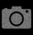 photo camera halftone icon vector image