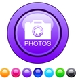 Photos circle button vector image