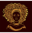 portrait african woman vector image
