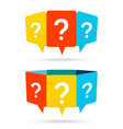 question mark message box on white background vector image