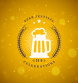 Retro vintage design element for brewery Badge vector image