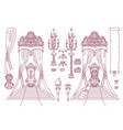royal chair queen throne vector image