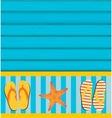 Sandals and Starfish Summer Background vector image vector image