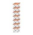 scaffold seven floors colorful silhouette without vector image vector image
