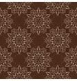Seamless Mandala Pattern over dark brown vector image vector image