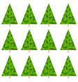 seamless pattern christmas new year trees winter vector image vector image